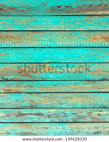 Old green wood wall texture background - stock photo