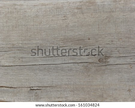 Old grey wood texture, with large cracks and areas of chipping paint. - stock photo
