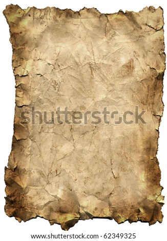 Old grunge antique paper texture with ragged edges - stock photo