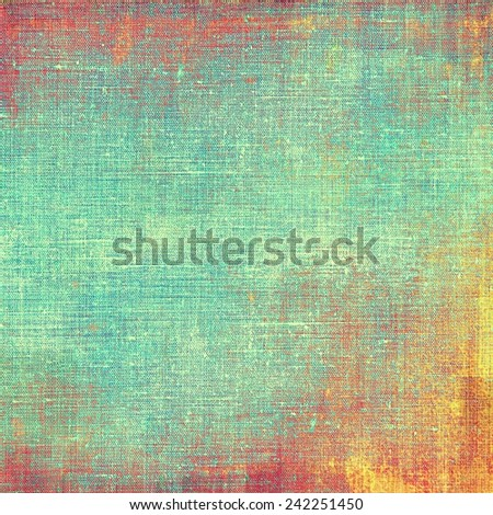Old grunge antique texture. With different color patterns: brown; cyan; red (orange); yellow (beige) - stock photo