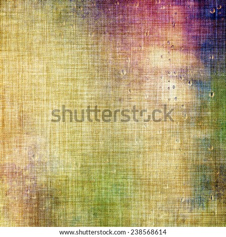 Old grunge antique texture. With different color patterns: green; purple (violet); brown; yellow - stock photo