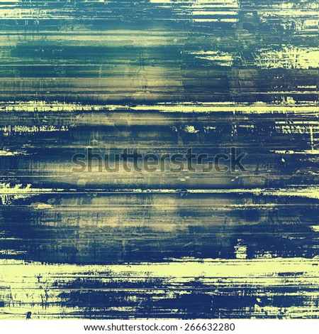 Old grunge antique texture. With different color patterns: yellow (beige); blue; green - stock photo