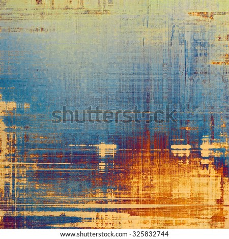 Old grunge antique texture. With different color patterns: yellow (beige); blue; purple (violet); cyan - stock photo