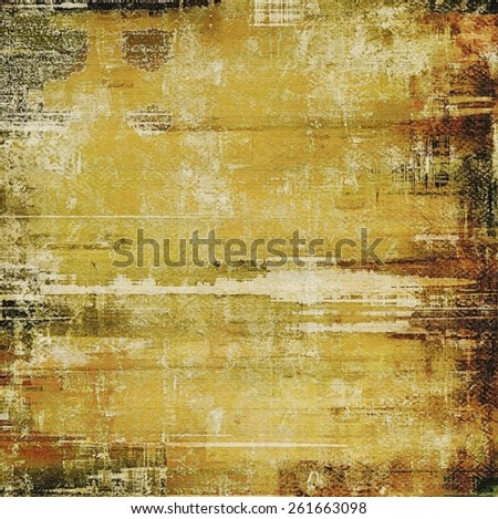 Old grunge antique texture. With different color patterns: yellow (beige); brown; gray - stock photo