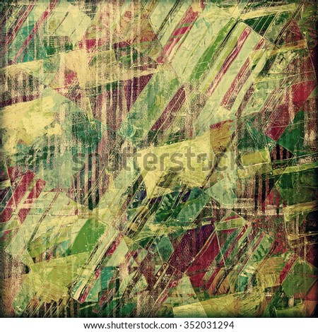 Old grunge antique texture. With different color patterns: yellow (beige); brown; purple (violet); green - stock photo