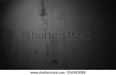 Old grunge background of dark concrete wall with scratches