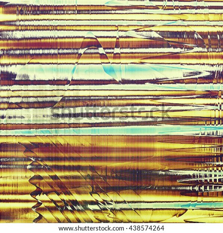 Old, grunge background or damaged texture in retro style. With different color patterns: yellow (beige); brown; blue; red (orange); pink; white - stock photo
