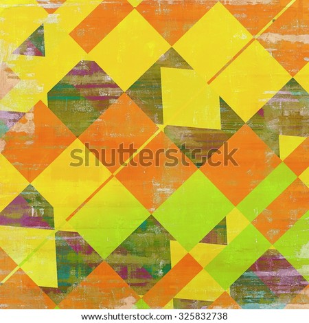 Old, grunge background texture. With different color patterns: yellow (beige); green; red (orange); purple (violet) - stock photo