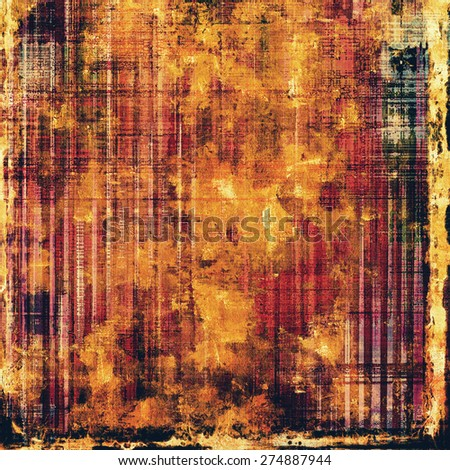 Old grunge background with delicate abstract texture and different color patterns: yellow (beige); brown; purple (violet); black - stock photo