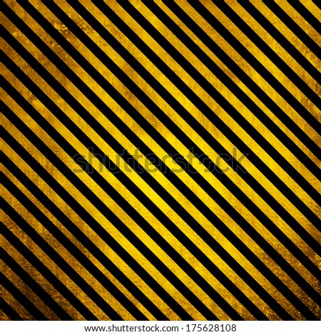 Old Grunge background with yellow and black lines - stock photo