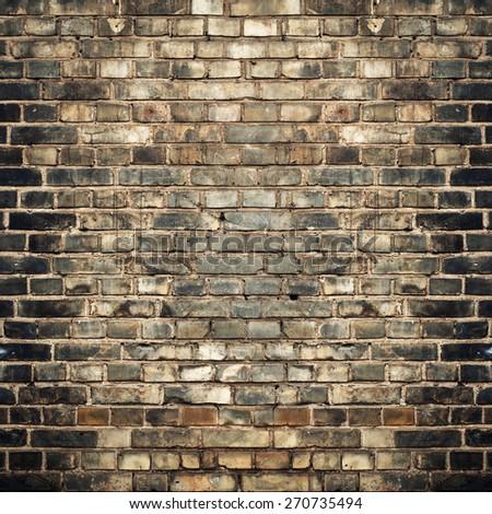 old grunge brick wall texture grunge background - stock photo