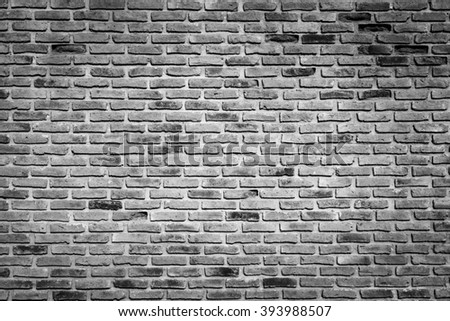 Old grunge brick wall use for vintage background