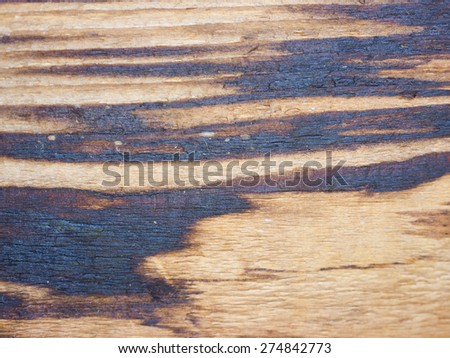 Old grunge brown wood texture useful as a background