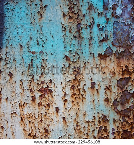 Old grunge color metal. - stock photo