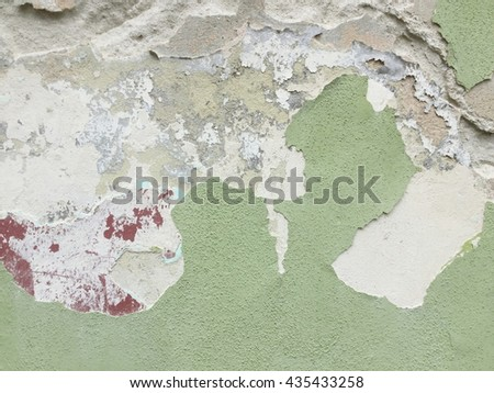 Old grunge crack concrete wall texture background.
