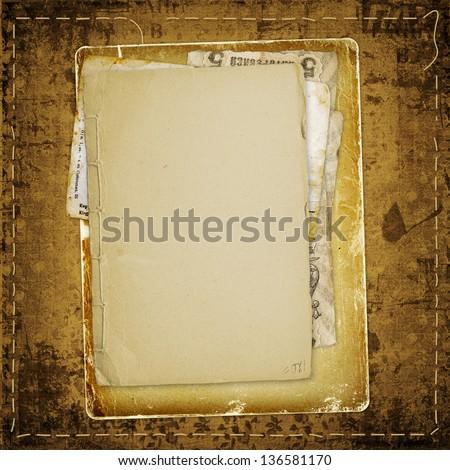 Old Grunge Frames On Ancient Paper Stock Illustration 136581170 ...