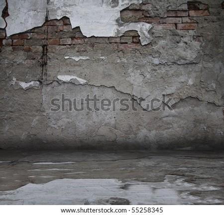 old grunge interior - stock photo