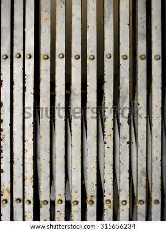 Old Grunge Iron, Old metallic door. - stock photo