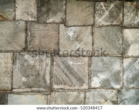 Old grunge metal plates pattern background