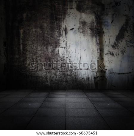 old grunge metallic interior - stock photo