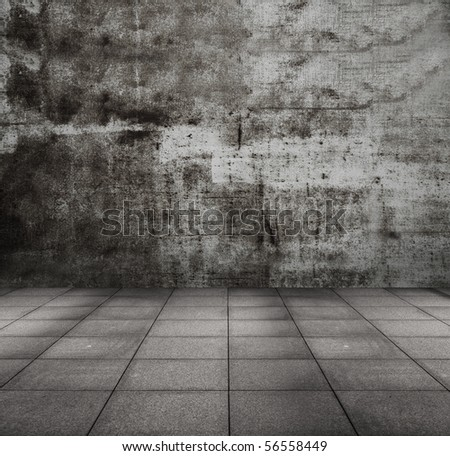old grunge metallic room