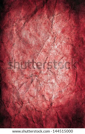Old grunge red paper background or texture - stock photo