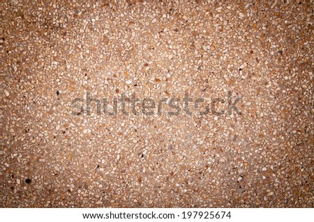 Old Grunge Rustic Cement Pavement and Pebble Background and Texture. - stock photo