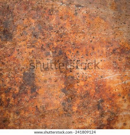 Old grunge rustry iron pattern - stock photo