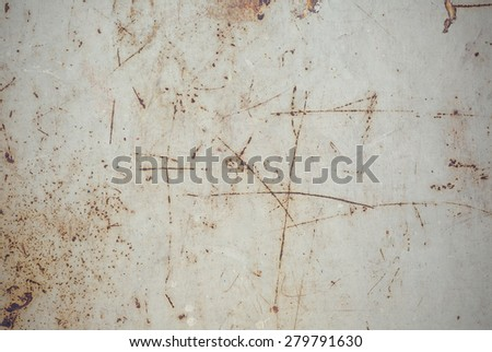 old grunge rusty zinc wall for textured background - stock photo