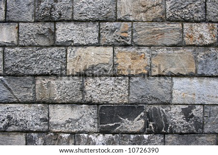 Old grunge stone wall close up photo - stock photo