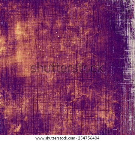 Old grunge template. With different color patterns: yellow (beige); brown; gray; purple (violet) - stock photo