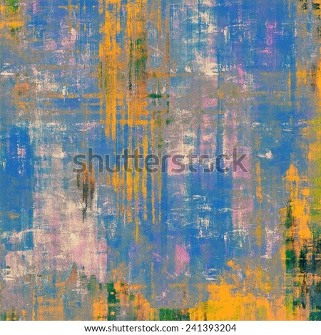Old grunge textured background. With different color patterns: blue; yellow (beige); green; pink - stock photo