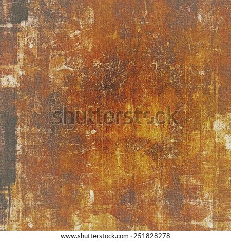 Old grunge textured background. With different color patterns: yellow (beige); brown; black - stock photo