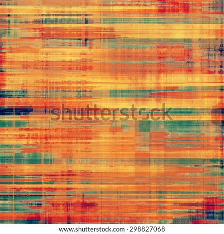 Old grunge textured background. With different color patterns: yellow (beige); brown; green; red (orange) - stock photo