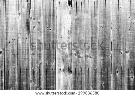 Old grunge wood background. Black and white photo. - stock photo