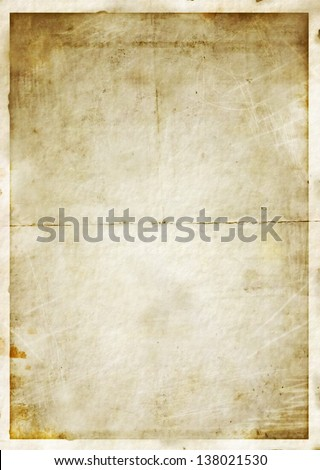 Old grungy blank photo background - stock photo