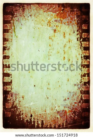 Old grungy blank photo paper background
