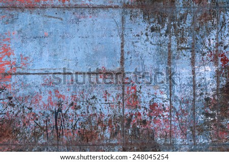 Old Grungy Metal Texture with Seams (Part of Grungy Textures with Rusty Seams set, which includes textures that can be used together to create a huge image) - stock photo