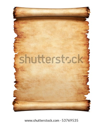 Old grungy piece of parchment paper. Antique manuscript letter background. - stock photo