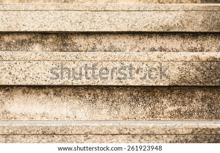 Old grungy stone stairway - stock photo