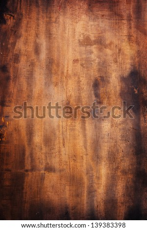 Old grungy wood surface texture. - stock photo