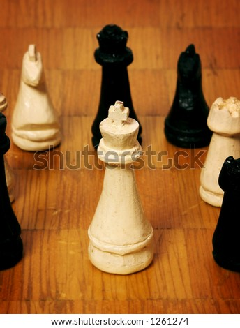 Old Handcrafted Chess Board