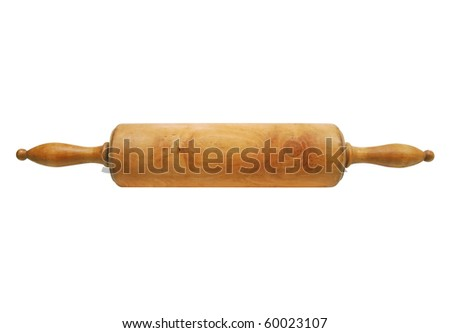 Old handcrafted wooden rolling pin for cooking30