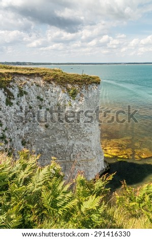 Old Harry Rocks near Bournemouth in South England (Dorset, Jurrasic coast)