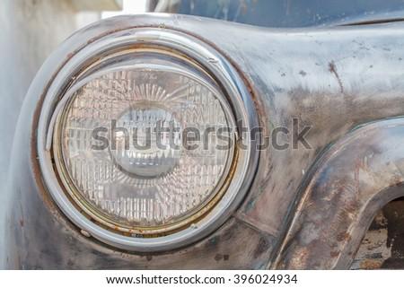 Old Headlight - stock photo