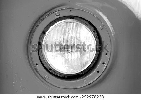 Old Headlight of bus