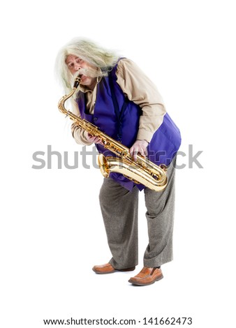Old hippies saxophonist drayf