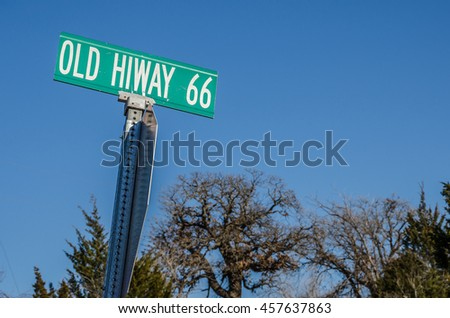 Old Hiway 66 is an unusual sign on Route 66 in Oklahoma with that spelling