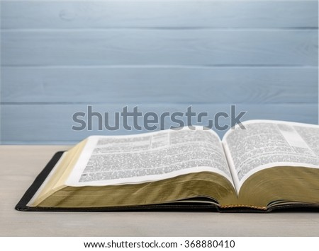 Old holy bible. - stock photo