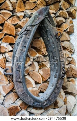 Old horse collar - stock photo